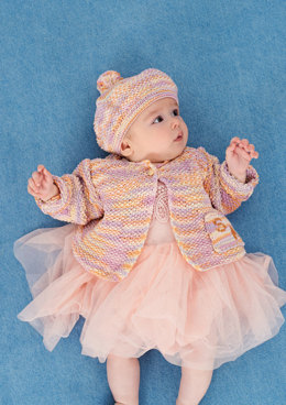 Jacket and Beret in Rico Baby Cotton Soft DK and Soft Print DK - 397 - Downloadable PDF