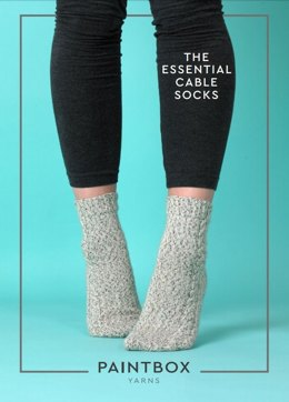 The Essential Cable Socks - Free Knitting Pattern in Paintbox Yarns Socks