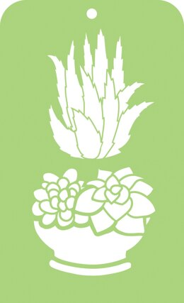 "Kaisercraft Mini Designer Templates 3.5""X5.75"" - Succulents"