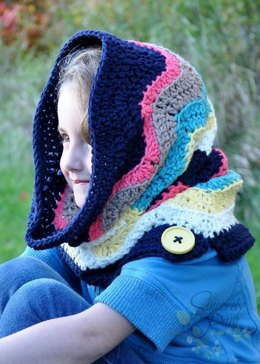 Chevron Hooded Cowl