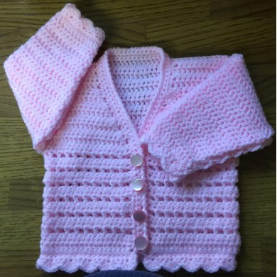 Baby's/Child's V Neck Cardigan - 1003