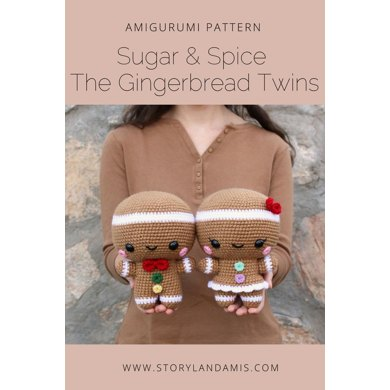 Cuddle-Sized Gingerbread Twins