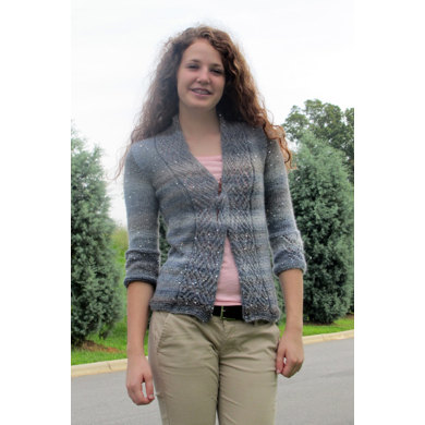 Sparkle in the Storm Cardigan in Universal Yarn Classic Shades Sequins Lite