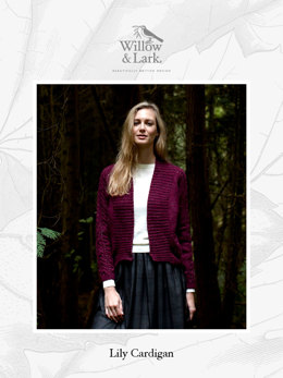 Lily Cardigan in Willow & Lark Woodland