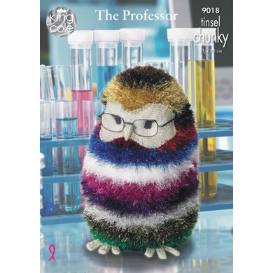 The Professor Owl & Mr Prickles The Giant Hedgehog in King Cole Tinsel Chunky & DK - 9018 - Downloadable PDF
