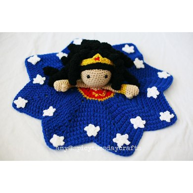 WONDERful WOMAN Blanket Buddy Crochet pattern by Spicy Tuesday ...