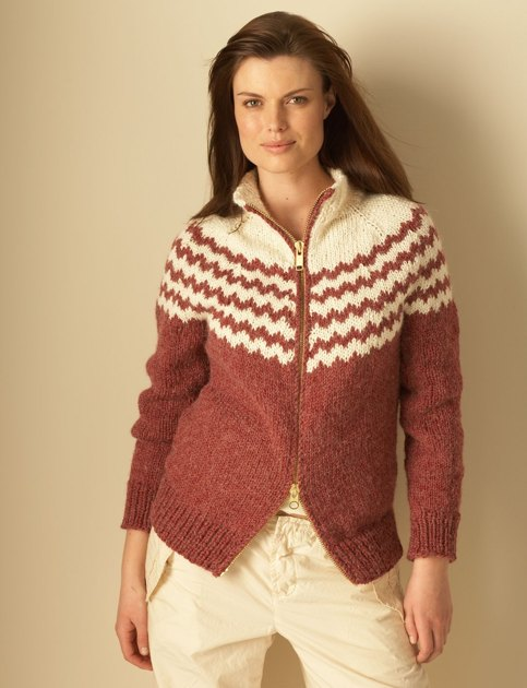 Top Down Cardigan In Bernat Alpaca Knitting Patterns