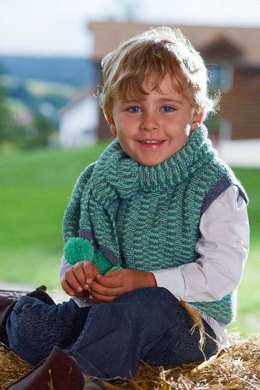 Child's Slipover and Scarf in Schachenmayr Universa - S6912 - Downloadable PDF