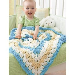 From the Middle Baby Blanket in Bernat Baby Blanket