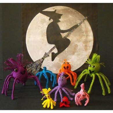 FREE Halloween Spider Family knitting pattern