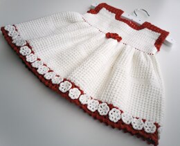 "Crochet pattern for the ""Cute and beautiful"" dress, for age 9-12 months."