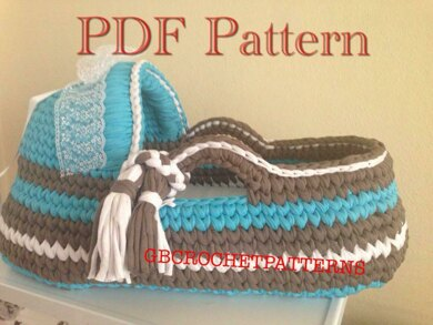 meilleure sélection 945ef 53334 Baby moses basket Crochet pattern by GBCROCHETPATTERNS