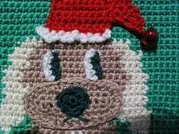 Christmas Puppy Potholder