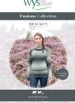 Bracken Sweater in West Yorkshire Spinners Aire Valley Aran Fusions - Downloadable PDF