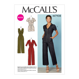 McCall's Misses'/Miss Petite Jumpsuits M7908 - Sewing Pattern