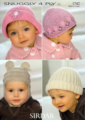 Hats in Sirdar Snuggly 4 Ply - 1742