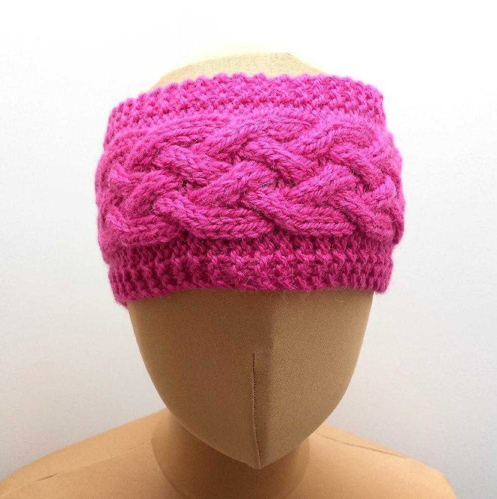 Cabled Ear Warmer Headband Knitting pattern by SophiesKnitStuff ...