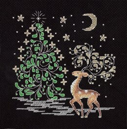 PANNA Christmas Deer Cross Stitch Kit - 19cm x 18cm