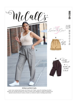 McCall's Misses' & Women's Pants M8148 - Sewing Pattern