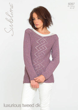 Sweater in Sublime Luxurious Tweed DK - 6097