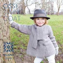 """Cissi Swing Coat"" - Coat Knitting Pattern For Girls in MillaMia Naturally Soft Merino"