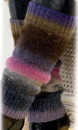 Leg Warmers in Noro Silk Garden Lite