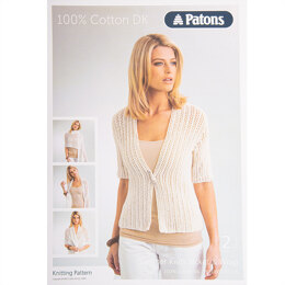 Jacket and Wrap in Patons Smoothie DK - Leaflet