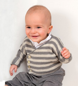 Baby Wrap Over Cardigans in Rico Baby Merino DK - 269 - Downloadable PDF