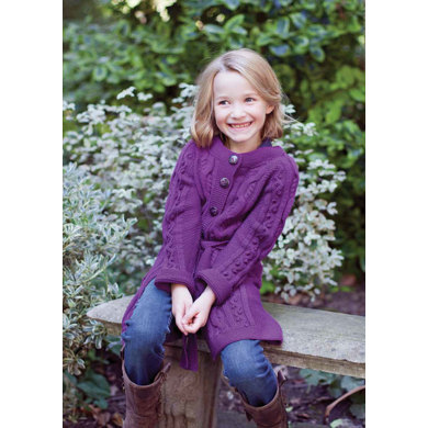 """Livia Child's Cardigan"" : Cardigan Knitting Pattern in MillaMia Yarn"
