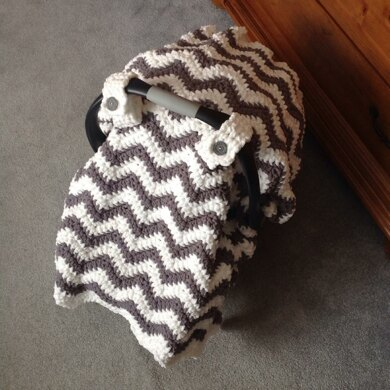 Chunky Chevron Car Seat Canopy Cover