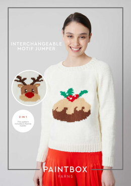 """""""Interchangeable Motif Jumper"""" - Free Jumper Knitting Pattern in Paintbox Yarns Simply Chunky"""