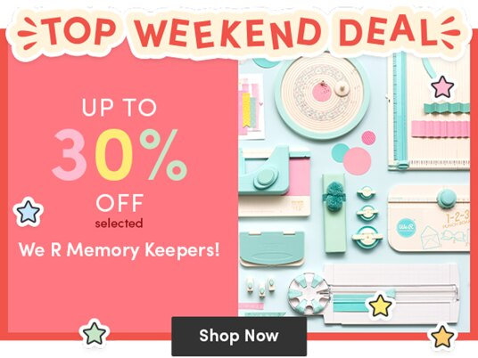 Up to 30 percent off selected We R Memory Keepers!