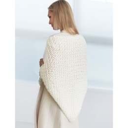 Crochet Prayer Shawl in Bernat Satin