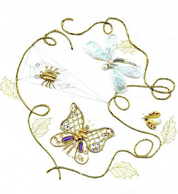 Rajmahal Goldwork Insects Embroidery Kit - 12 x 14 cm