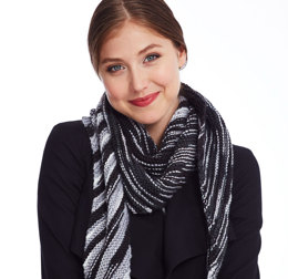 Oblique Kerchief in Caron Simply Soft Camo - Downloadable PDF