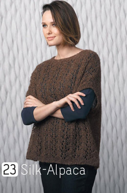 Short Sleeve Sweater in Katia Silk Alpaca