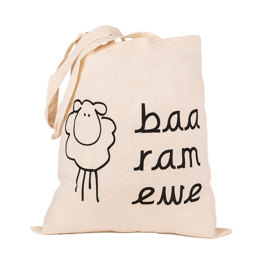Baa Ram Ewe Cotton Tote Bag