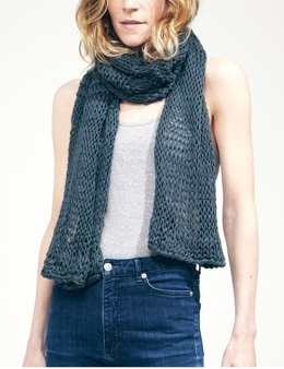 Lacey Sissi Scarf in Wool and the Gang Shiny Happy Cotton - Leaflet