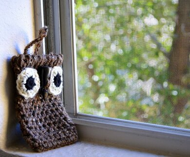 Phone Case, Crochet Owl Cozy