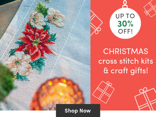 30 percent off Christmas cross stitch kits and craft gifts!