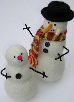 Felted Snowman