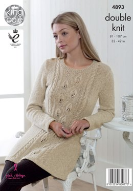 Tunic & Cardigan in King Cole Authentic DK - 4893 - Leaflet
