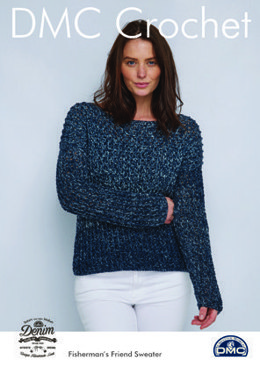 FishermanÂs Friend Sweater in Natura Denim in DMC- 15453L/2 - Leaflet