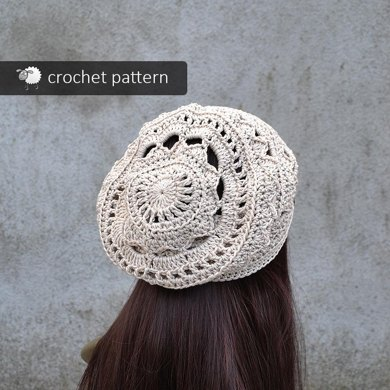Slouchy Mandala Lace Hat Crochet Pattern By Crazy Sheep