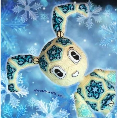 Not African flower but Snowflake Robo-Snowgirl