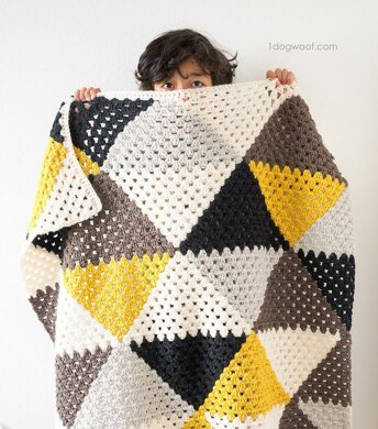 Love Triangles Baby Blanket