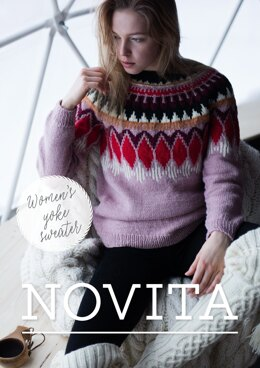 Women's Yoke Sweater in Novita 7 Veljestä and Nordic Wool - Downloadable PDF