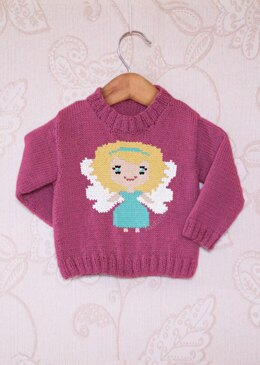 Intarsia - Angel Chart - Childrens Sweater