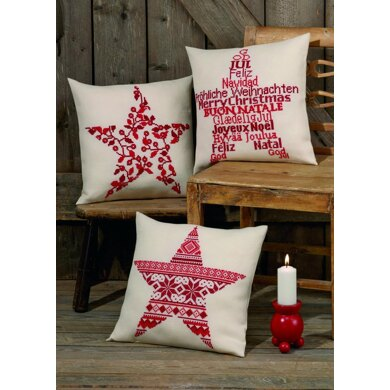 Permin Christmas Berries Cushion Cross Stitch Kit