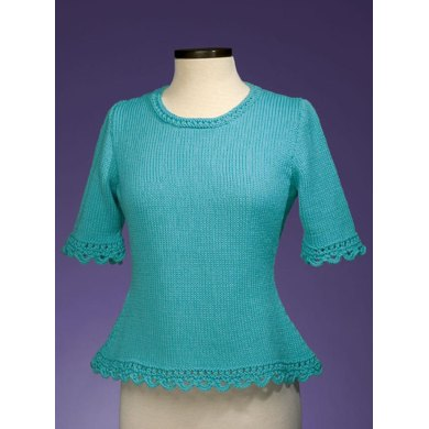 Simple Scalloped Edge Pullover #159